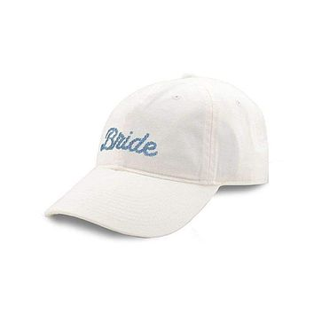 Bride Needlepoint Hat in White by Smathers & Branson