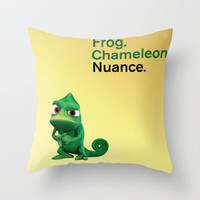Nuance - Tangled - Gold Throw Pillow by Maggie Cellucci | Society6