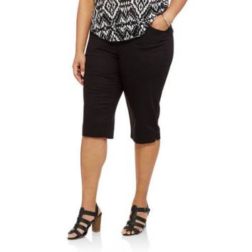 Just My Size Women's Plus-Size 2 pocket Pull-On Capri - Walmart.com