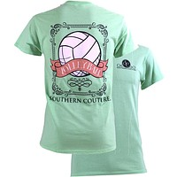 SALE Southern Couture Preppy Vintage Volleyball Sports Girlie Bright T Shirt