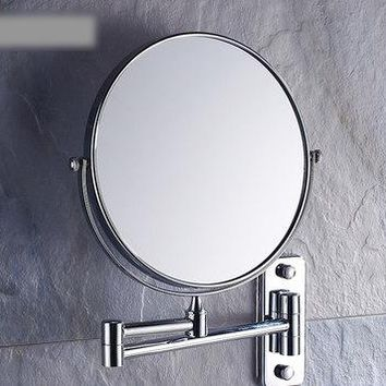 8 Inch Double Side Modern Bath Mirrors Shave Makeup Extend Arm 3x Magnifying Espelho Do Banheiro Bathroom Sanitary Accessories