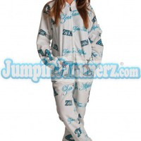 Zeta Tau Alpha - College Footed Pajamas - Pajamas Footie PJs Onesuits One Piece Adult Pajamas - JumpinJammerz.com