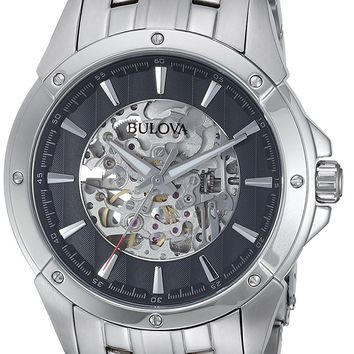 Bulova Mens 96A170 Gleeson Automatic Silver Watch