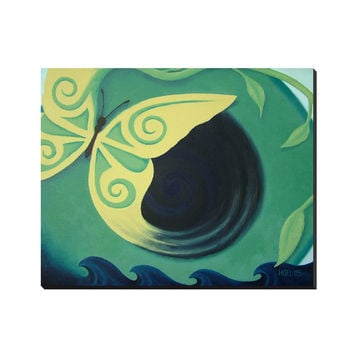 Transcendence - Wrapped Canvas of Acrylic Paint Butterfly Fine Art