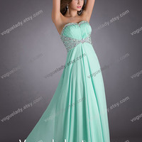 Custom Beach Sweetheart Sleeveless Floor-length Chiffon Cheap Long Bridesmaid/Evening/Party/­Homecoming/Prom/Cocktail Dresses 2014