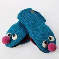 Knitwits Delux Sesame Street Grover  Kids' Mittens - Blue - Punk.com