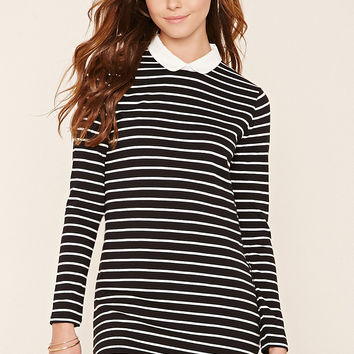 Collared Stripe Shift Dress