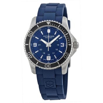 Victorinox Swiss Army Maverick GS Blue Dial Blue Rubber Ladies Watch 241610