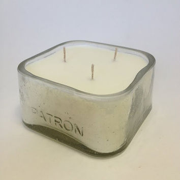 Patron Candle -Soy Wax - 3 WICK -Made From Recycled Bottles