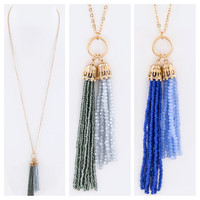 Double Tassel Beaded Necklace