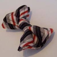 Black and White and Red All Over Bow Tie for Toddlers- Newborn to 5T