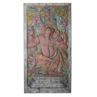 Mogul Antique Dramatic Door Panel Hand Carved Ganesha Muladhara Chakra Success New Beginnings Rustic Wall Décor - Walmart.com