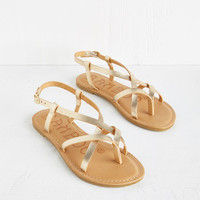 ModCloth Boho Slingback to the Beach Sandal in Gold