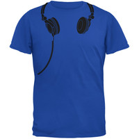 Headphones Blue Youth T-Shirt