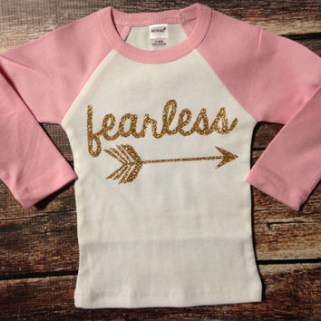 Fearless Shirt Mint Gold Baby Shower Gift Sparkle Baby Hipster Clothes Baby Girl Shirt Native Baby Clothes Baby Gift Mint Black Pink Gold