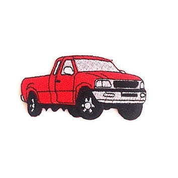 Pick up Truck Iron on Patch Size 8 x 4.3 cm