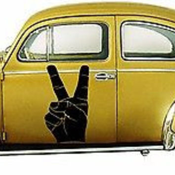 Fingers Peace Sign Hippie flower child Bohemian beatnik Car Vinyl Graphics tr