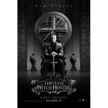 Last Witch Hunter poster Metal Sign Wall Art 8in x 12in Black and White