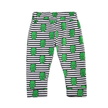 cool Toddlers Newborn Baby Boys Girls striped Harem Pants Trousers Bottoms green cartoon print Sweatpants
