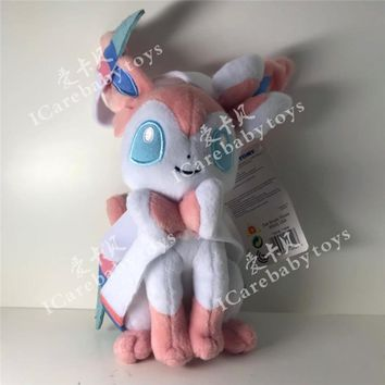"Sylveon ~9.5"" Mini-Plush:  Evolution of Eevee Series Plush toy doll Childrens Gift Toy Kids"