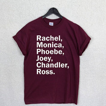 FRIENDS NAME t shirt top tv show series retro 90's rachel family monica funny
