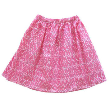 Heart Skirt - Girls Clothing - Toddler Girls Skirt - Pink Skirt - Valentine Heart Skirt - Free Shipping