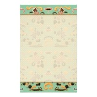 Old Fashioned Floral on Mint Green Stationery