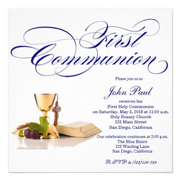 10 Personalised Girls First 1st Holy Communion Invitations Feesten, speciale gelegenheden Thank You Cards