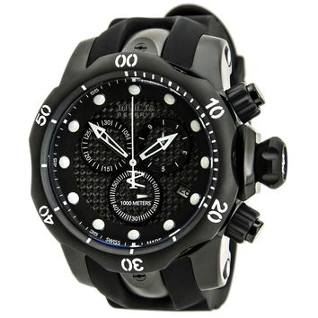 Invicta 80579 Men's Venom Chronograph Black Dial Black Rubber Strap Watch