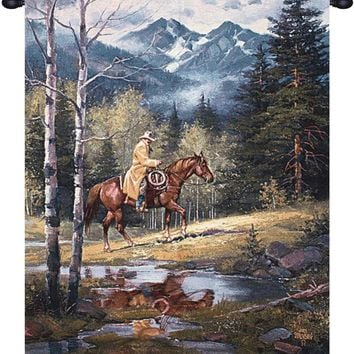 Springtime in the Rockies Tapestry Wall Hanging