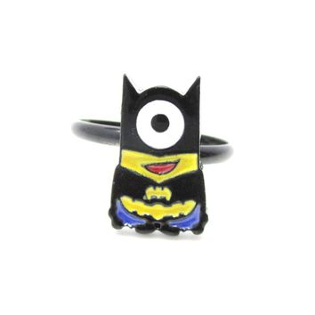 DC Comics Minion Batman Despicable Me Inspired Adjustable Ring | DOTOLY