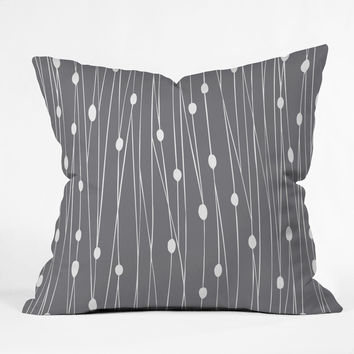 Heather Dutton Gray Entangled Throw Pillow