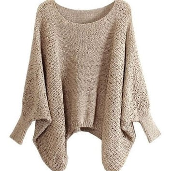 sweater with Batwing Sleeves = 1945666244