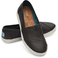 Black Coated Canvas Women's Avalon Slip-Ons