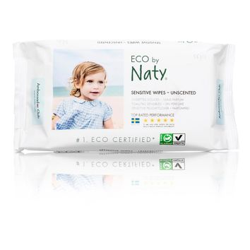 Naty - Baby Wipes Sensitive Unscented - Case Of 12 - 56 Ct