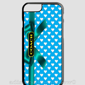 New Design Coach Heart Blue For iPhone 6 6s 6+ 6s+ Hard PLastic TPU Cover Case