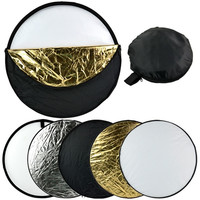 "24"" 60cm 5 in 1 Photography Studio Multi Photo Collapsible Light Reflector  D_L"