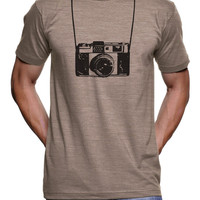 Mens Funny Camera and Straps Printed T Shirt Funny tees Photographer Gifts - Vintage and Retro Graphic Tshirts Birthday gifts S-3X