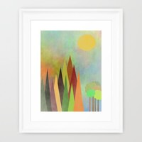 Whimsical Landscape Framed Art Print by Kathleen Sartoris