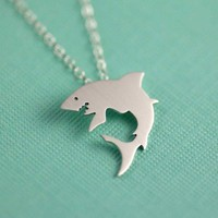 Great White Shark Silhouette Necklace