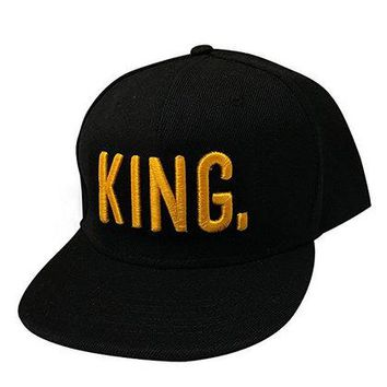 Hot selling 2017 King Queen Hats adjustable Baseball cap 100% handmade ring high quality