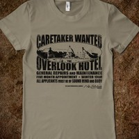 CARETAKER WANTED (LIGHT) T-SHIRT