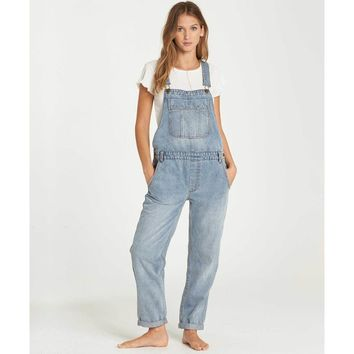 All Over Denim Overalls