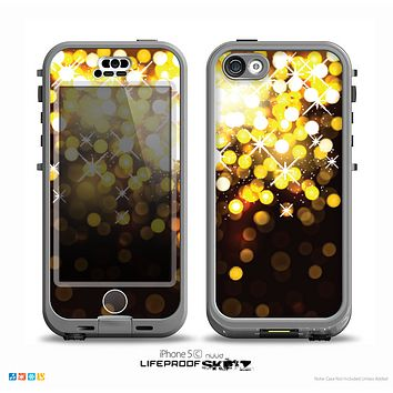 The Gold Unfocused Orbs of Light Skin for the iPhone 5c nüüd LifeProof Case