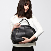 Leather Bag - OPELLE Botanist Bag - Spring 2011 in Black Pebbled Leather