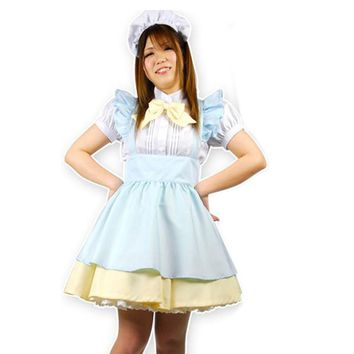 MOONIGHT 2017 Alice in the wonderland maid costume maid cosplay for women alice dream adult lolita cosplay Halloween costumes