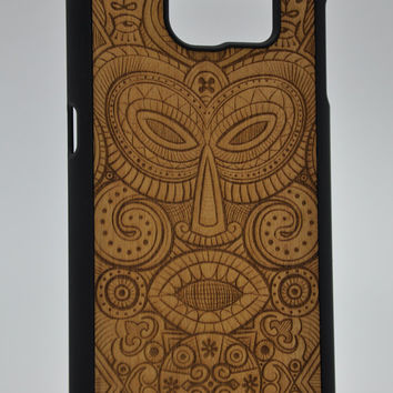 African Mask from Tanganica - Samsung Galaxy S6 / S6 Edge Wood Cover - Unique wood case - FREE WORLDWIDE SHIPPING!Handmade in Europe!