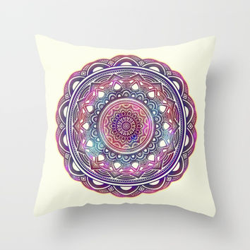 Galaxy Mandala Throw Pillow by AEJ Design