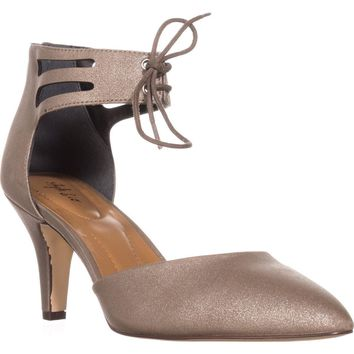 SC35 Vanaa Ankle Strap Pumps, Flint, 9 US