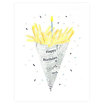 Birthday Fries Card